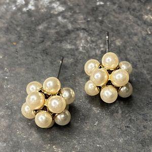Multiple Pearl Earring Stud